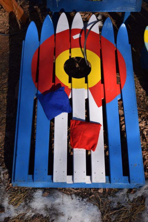 Colorado Ski Cornhole set