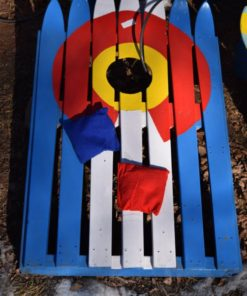 Colorado Ski Cornhole set