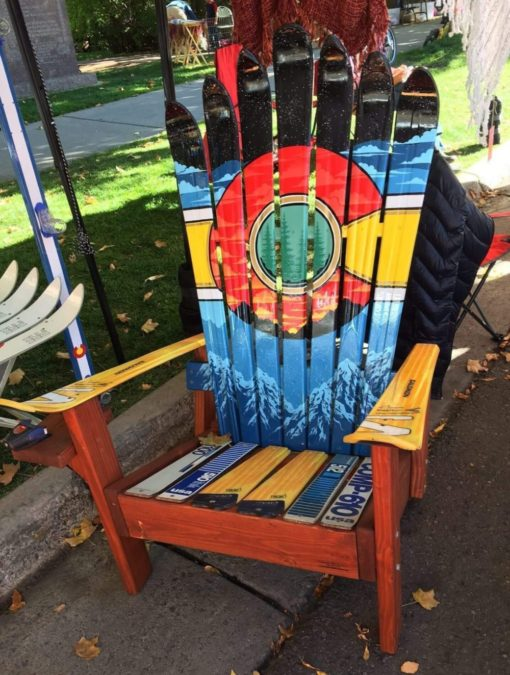 CO sunset mural adirondack ski chair