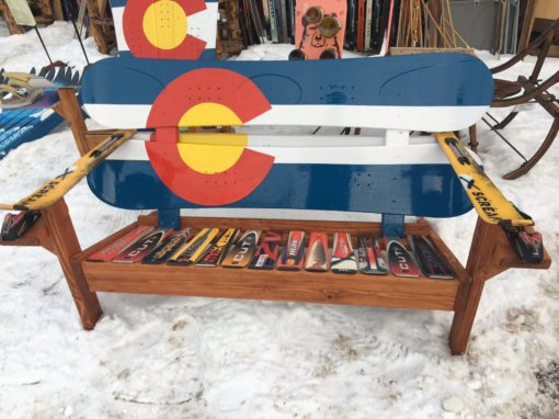 Colorado adirondack snowboard bench