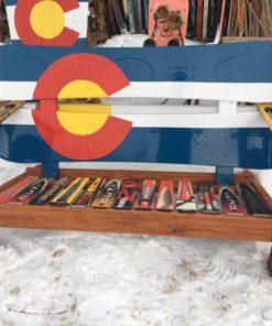 Colorado adirondack snowboard bench