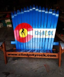 Colorado Springs climbing gym ski bench