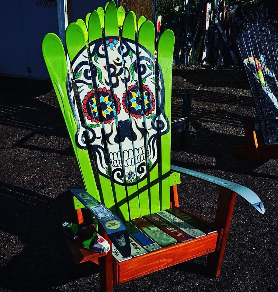 Gentil Hand Painted Sugar Skull Adirondack Chair