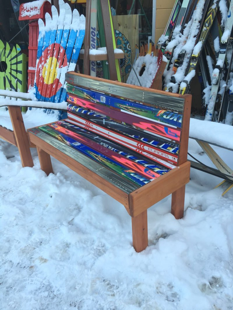 Excellent Park Style Ski Bench Alphanode Cool Chair Designs And Ideas Alphanodeonline
