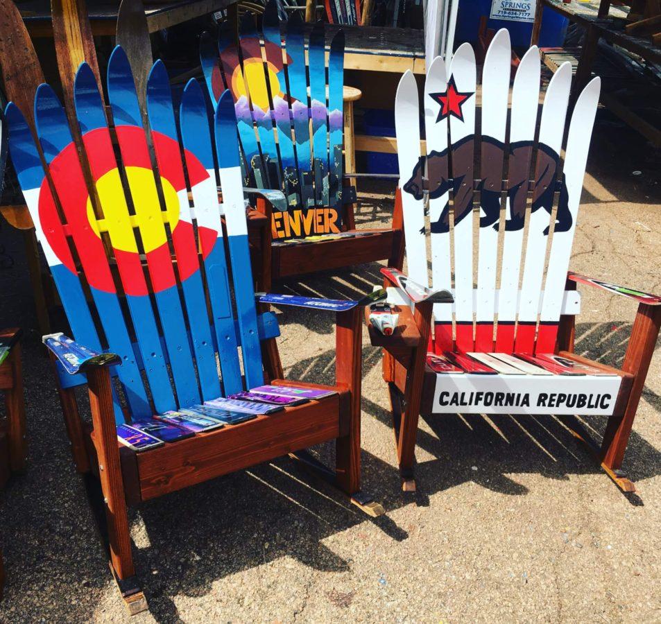 california flag adirondack snowboard bench durable California Outdoor Audio System California Outdoor Audio System