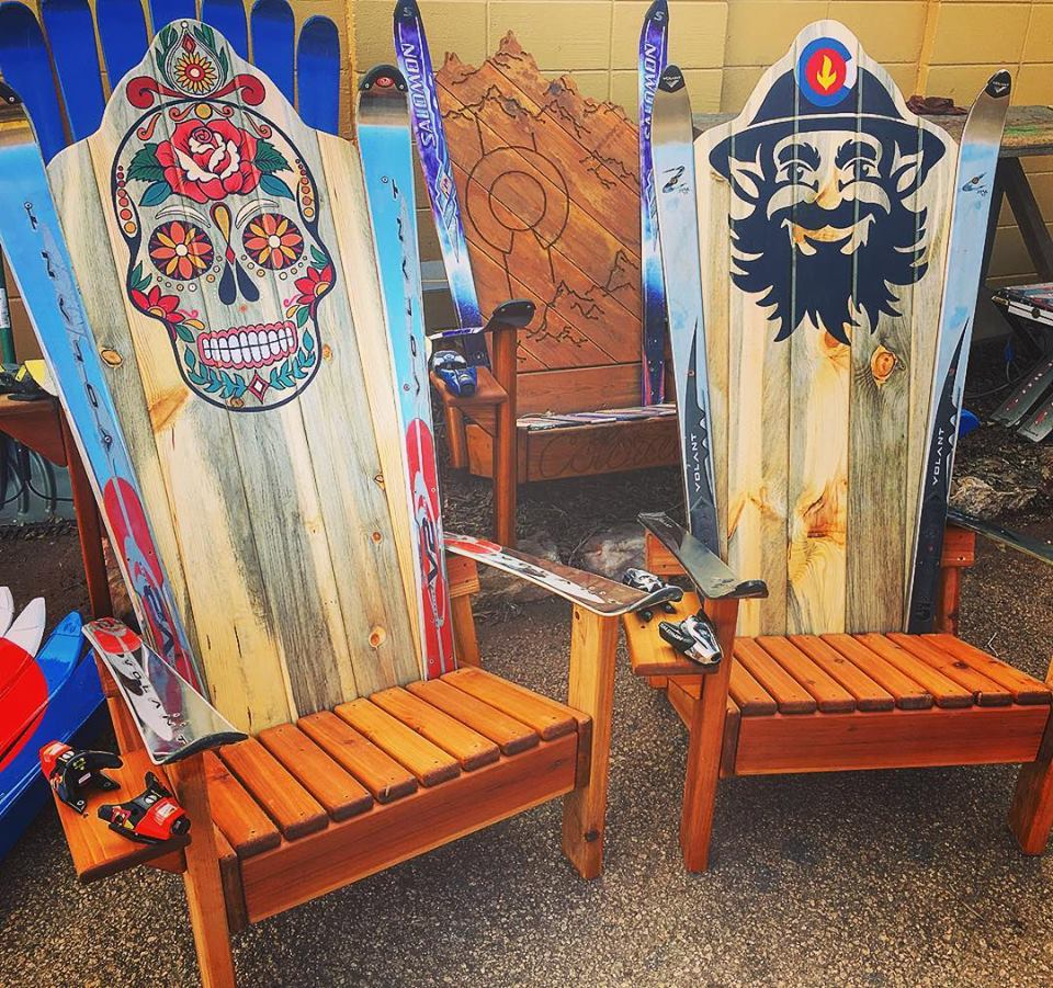 Delicieux Hand Painted Sugar Skull Adirondack Chair