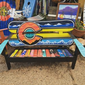 Custom Hand Painted Benches