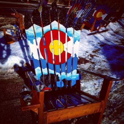 Dark side of the moon pink floyd inspired adirondack ski for Dark side of the moon mural