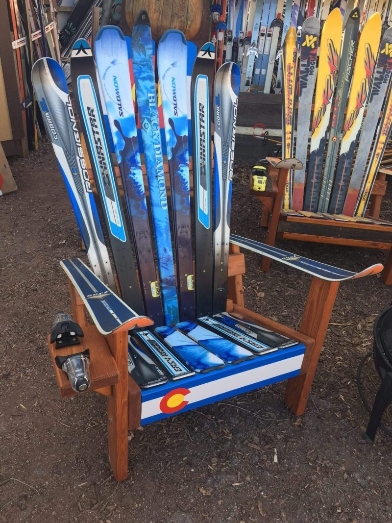 Manitou ... & Adirondack Ski Chair with Colorado Front Board comfort durability ...