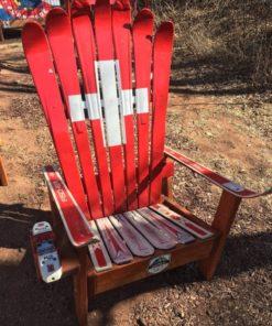 Peachy Swiss Flag Adirondack Ski Chair Short Links Chair Design For Home Short Linksinfo