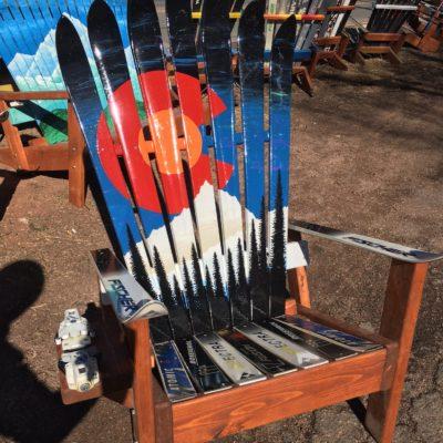 Colorado Mountain mural Ski Chair
