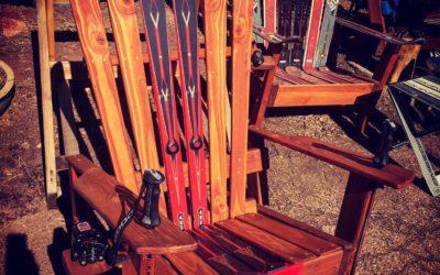 Custom memorial/sentimental ski chairs
