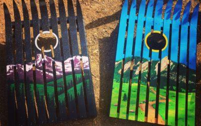 Ski Cornhole Boards- Custom paint jobs available !!