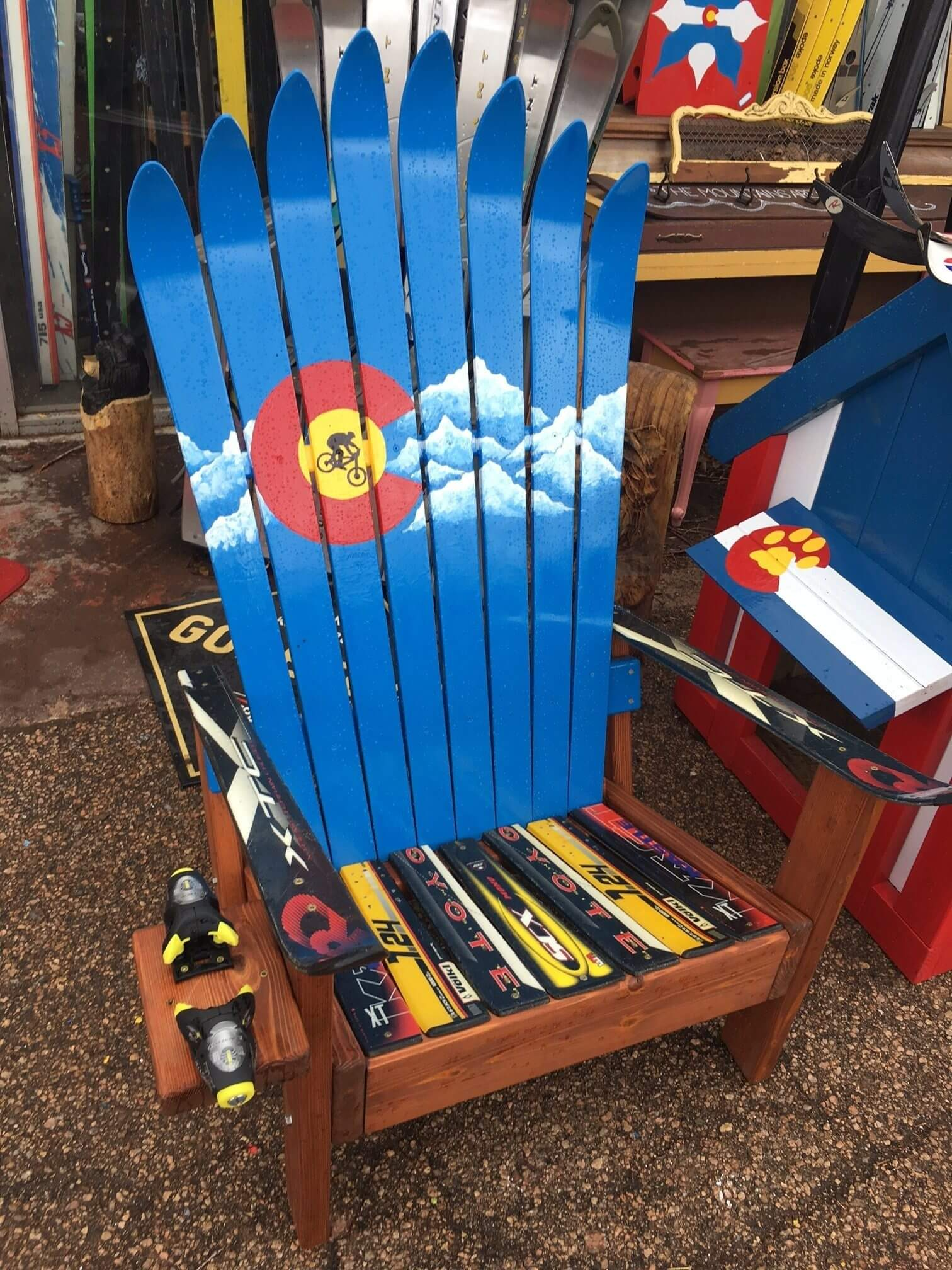 Colorado Mountain Flag Ski Chair Colorado Ski Chairs