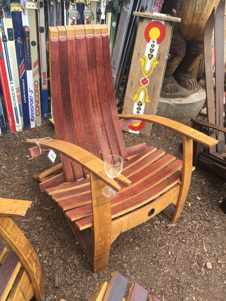 Wine Barrel Adirondack Chairs Comfort Style Outdoor