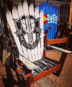 Special Forces Crest Adirondack Ski Chair