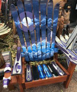 Incredible Purple Colorado Flag Moon Mural Ski Chair Short Links Chair Design For Home Short Linksinfo