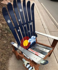 Colorado Snowy Mountains Ski Chair