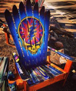 Grateful Dead hand painted ski chair art