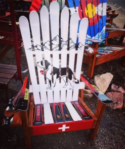 Swiss Mountain Patrol Rescue Dog Adirondack Ski Chair