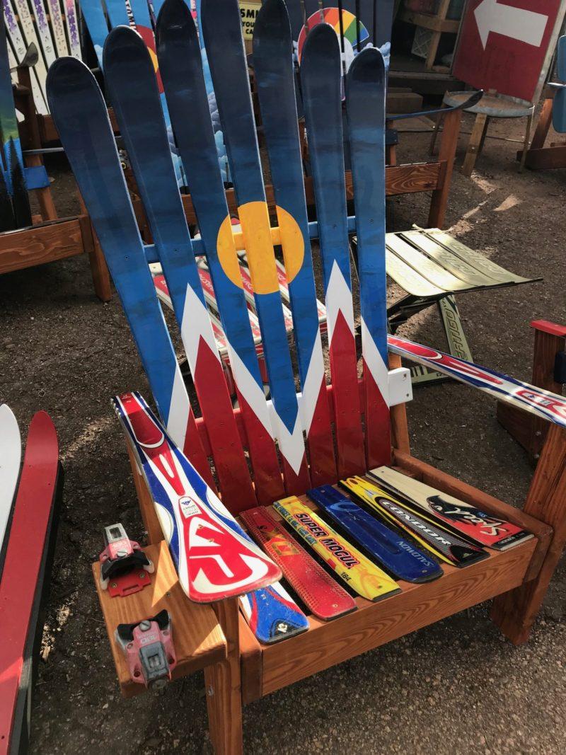 Denver Flag 5280 Adirondack Ski Chair