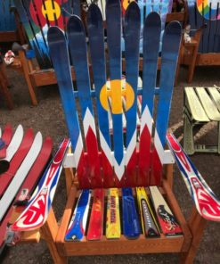 Denver Flag Hand Painted Adirondack Ski Chair