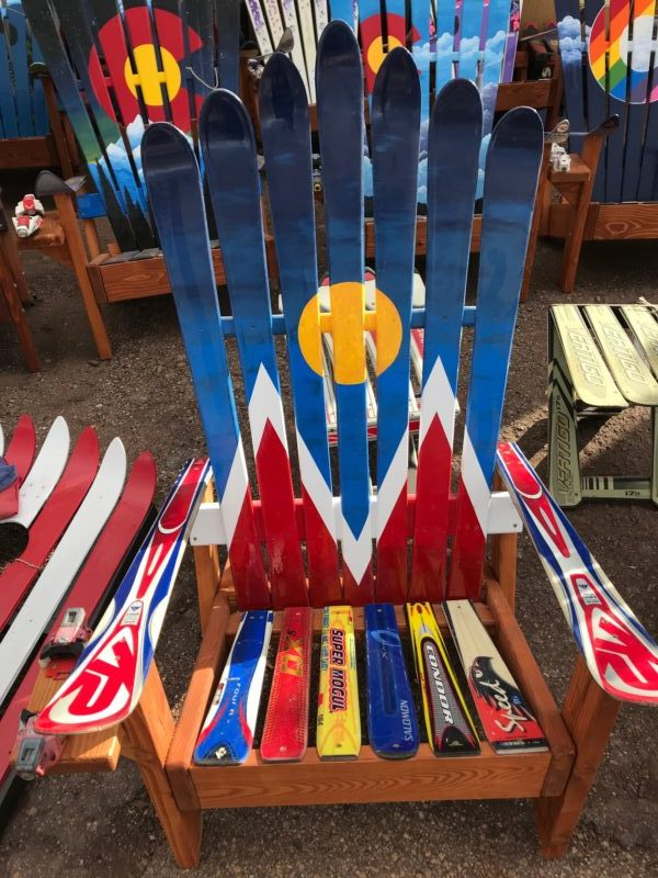 Denver Flag 5280 Adirondack Ski Chair