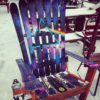 Dark Side of the Moon Pink Floyd themed Adirondack Ski Chair