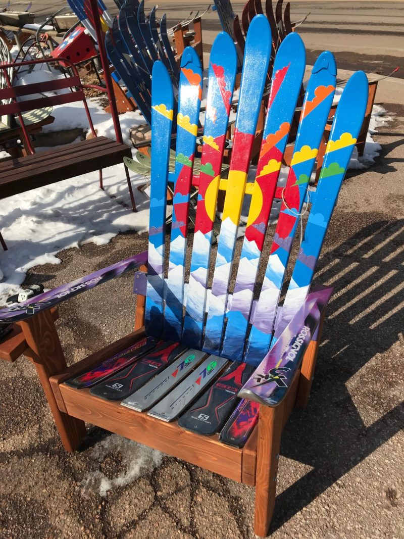 Rainbow Sunburst Colorado Mountain Mural Adirondack Ski