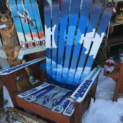 Bluescale Colorado Flag Mountain Mural Ski Chair