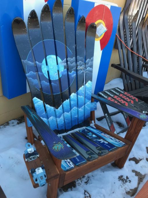 Colorado Night Sky Moon Mural Ski Chair