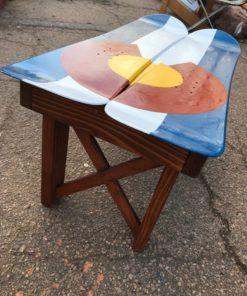 CO flag snowboard coffee table