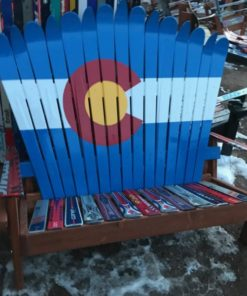 Colorado Flag Adirondack Ski Bench