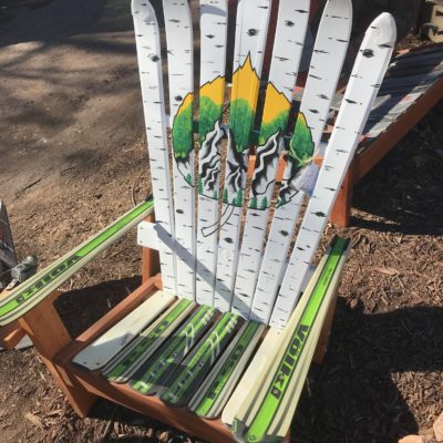 Colorado Aspen Leaf Springtime Mural Ski Chair