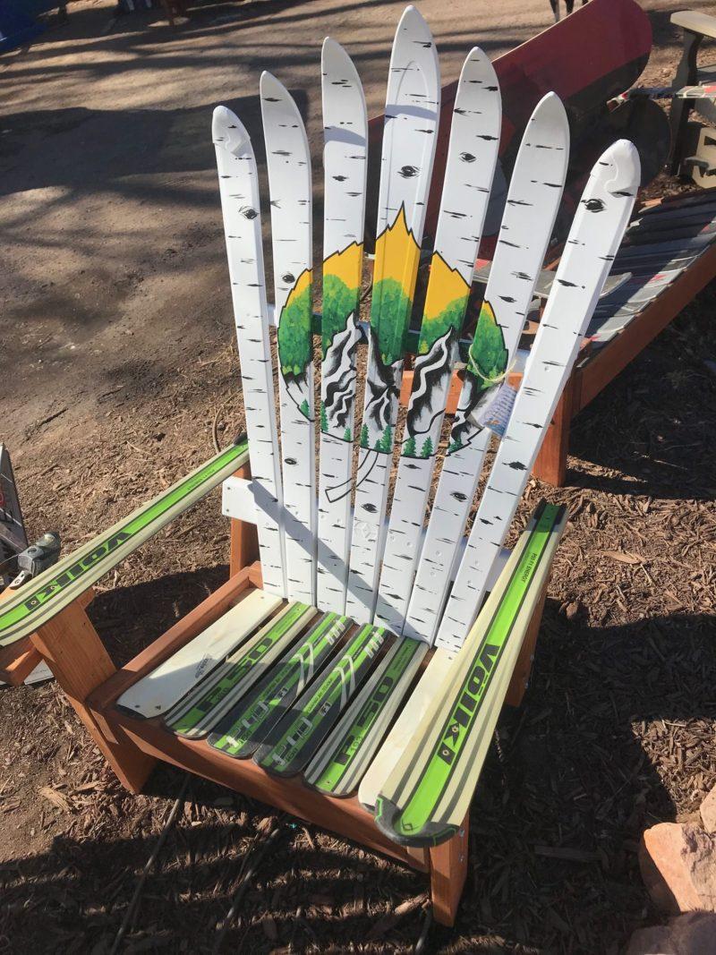 Aspen Tree Amp Leaf Springtime Mural Adirondack Ski Chair