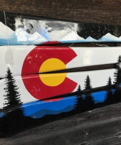 Colorado Mountain Mural Ski Wall Art