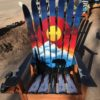 Colorado Sunset Bear Mural Ski Chair