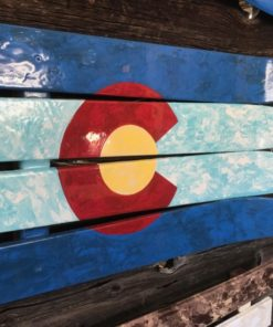 Colorado Marbled Ski Wall Flag