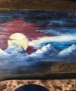 Colorado Night Mural Barnwood Flag (medium)