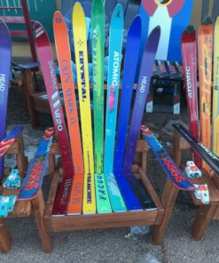 Adirondack Ski Chair with Rainbow Colors