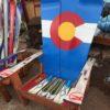 CO Flag Adirondack Snowboard chair