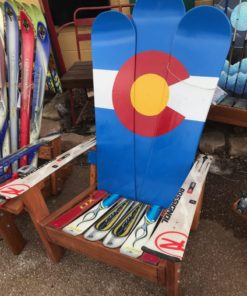 CO Flag Adirondack Snowboard chair