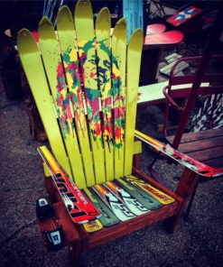 Bob Marley Art Adirondack Ski Chair