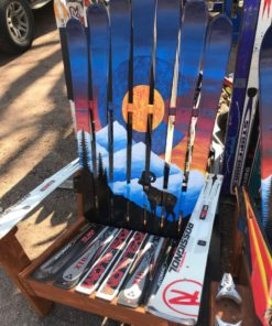 Colorado Sunset Bighorn Mural Ski Chair