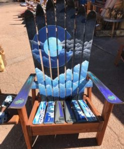 Colorado Mystic Moon Mountain Mural Adirondack Ski Chair