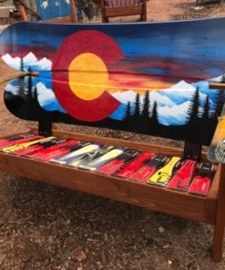 Colorado Sunset Mural Adirondack Snowboard Bench