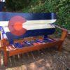 Colorado Orange Moon Snowboard Bench