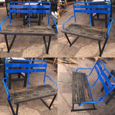 Repurposed Ski Chairlift Bench