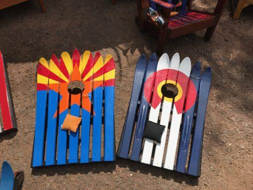 CO & AZ Flags Ski Cornhole Sets