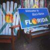 """Colorado Ski Furniture XXL 72"""" (6 feet) Tall Giant Oversize Adirondack chair Florida flag"""